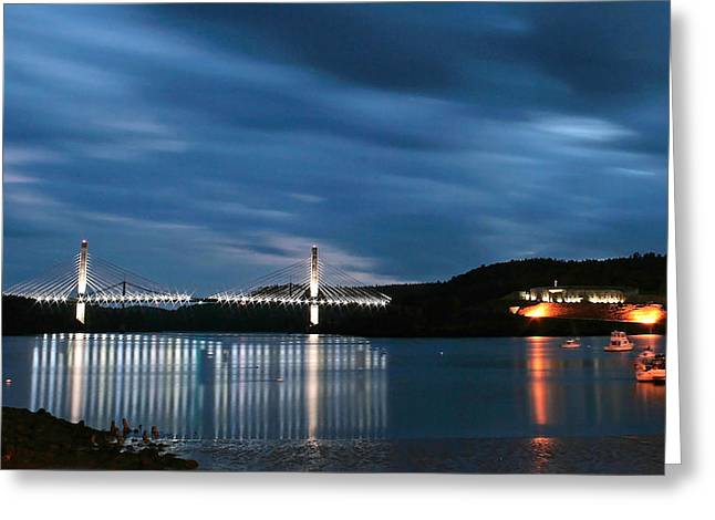 Maine Bridge And Fort Knox  Greeting Card