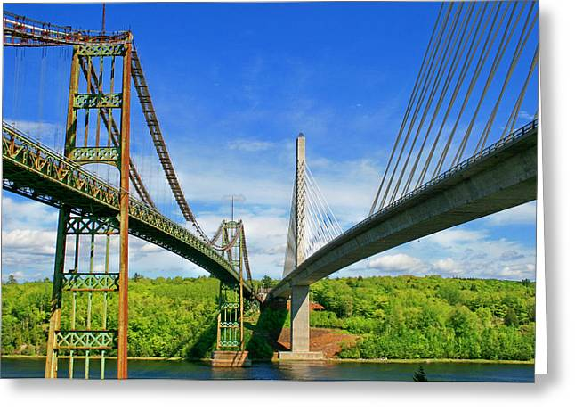 Maine Bridges Greeting Card