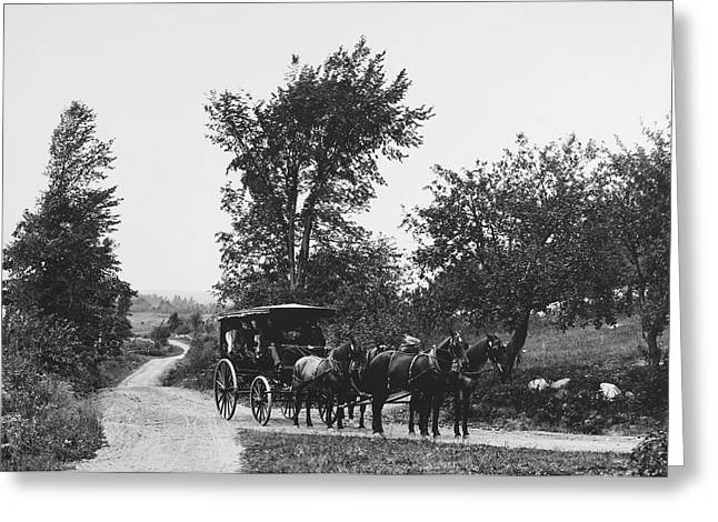 Maine Carriage Road, 1900 Greeting Card
