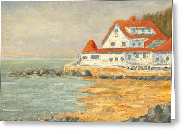 Maine Coast Greeting Card by Michael Lynn Brown