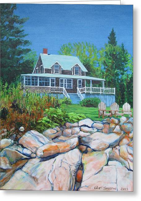 Maine Cottage Greeting Card