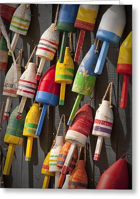 Maine Fishing Buoys Greeting Card