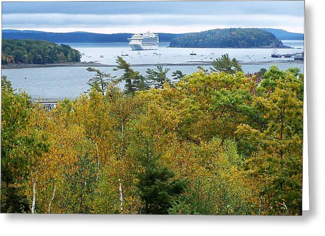 Greeting Card featuring the photograph Maine Harbor by Gene Cyr