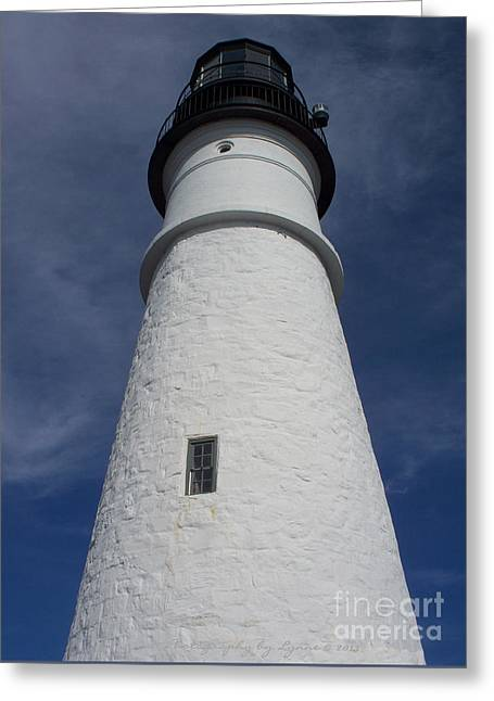 Greeting Card featuring the photograph Maine Lighthouse by Gena Weiser