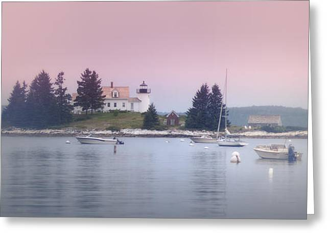 Maine Pumpkin Lighthouse Greeting Card by Chad Tracy