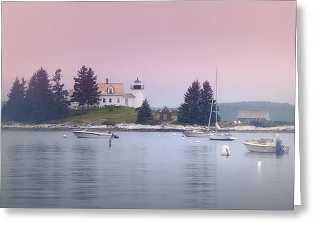 Maine Pumpkin Lighthouse Greeting Card