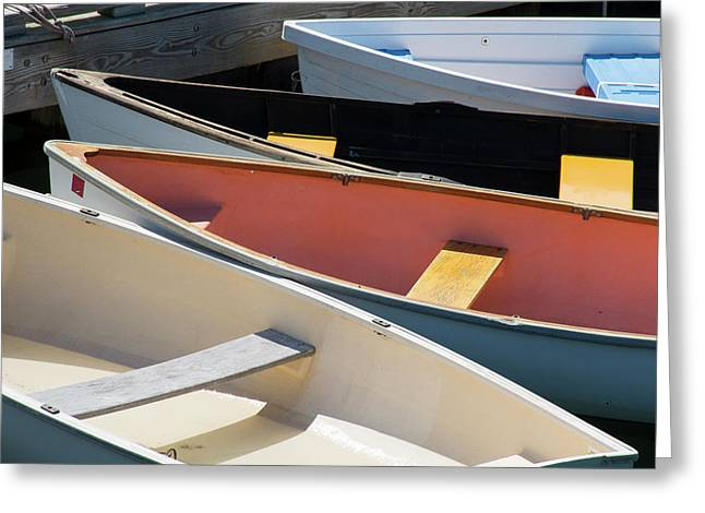 Maine, Rockland Colorful Boats Greeting Card by Cindy Miller Hopkins