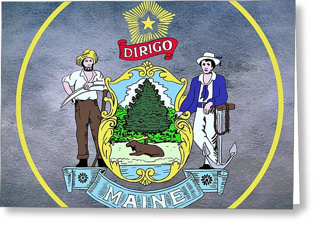 Maine State Seal Greeting Card by Movie Poster Prints