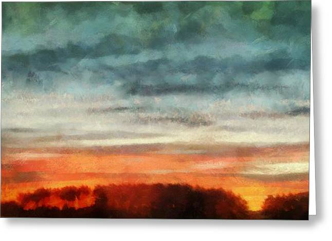Maine Sunset Greeting Card by RC deWinter