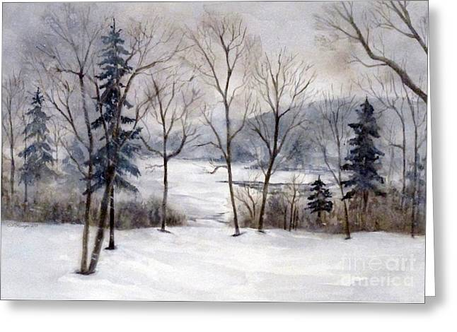 Maine Winter Greeting Card
