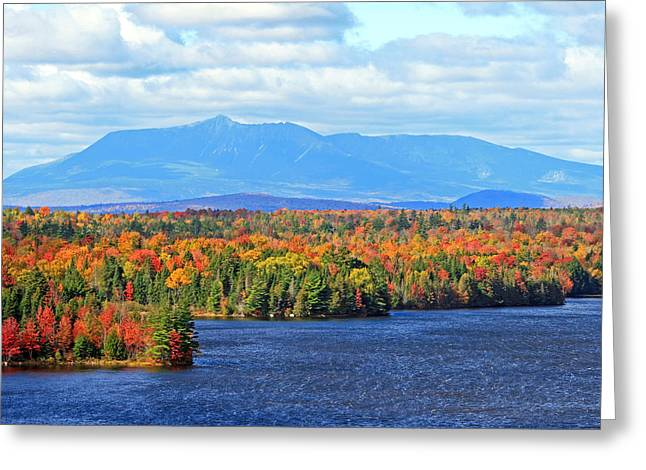 Maine's Mt. Katahdin In Autumn Greeting Card