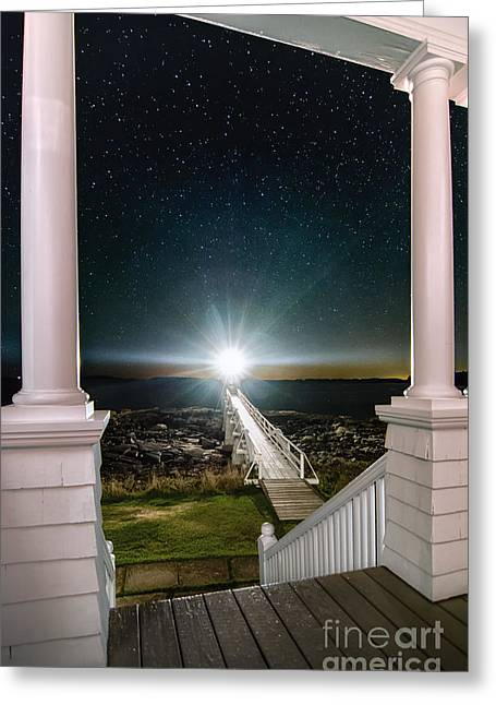 Maines Premier Porch Light Greeting Card by Scott Thorp