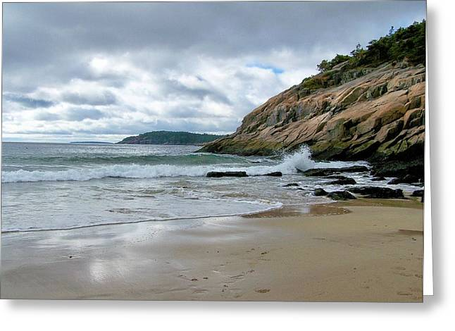 Greeting Card featuring the photograph Maine's Sand Beach by Gene Cyr