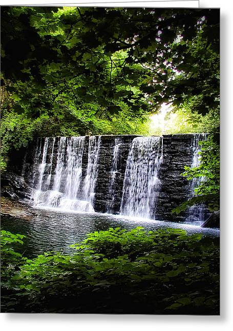 Mainline Waterfall Greeting Card