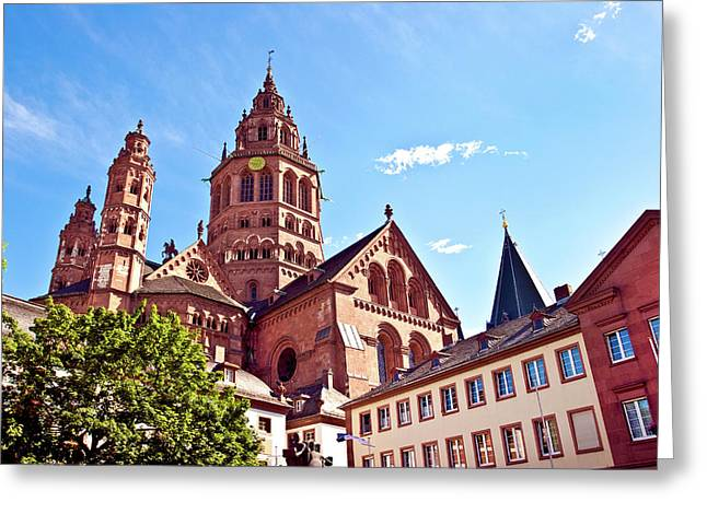 Mainz, Germany, Saint Martin's Cathedral Greeting Card by Miva Stock