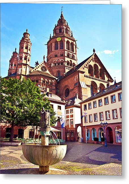Mainz, Germany, Saint Martin's Greeting Card by Miva Stock