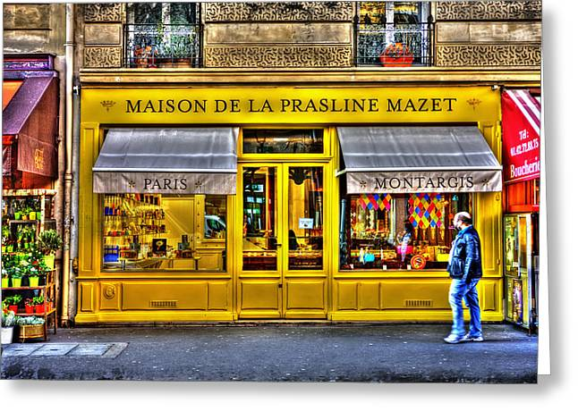 Maison De La Prasline Paris France Greeting Card