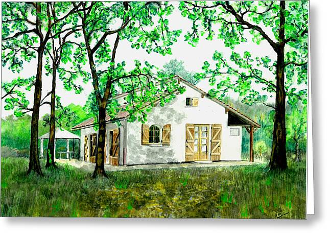 Maison En Medoc Greeting Card