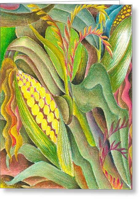 Maize Greeting Card by Jaanaka Kandepola