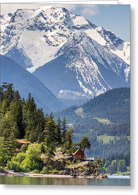Majestic Anderson Lake Landscape Greeting Card by Pierre Leclerc Photography