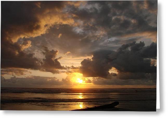 Majestic Sunset Greeting Card by Athena Mckinzie
