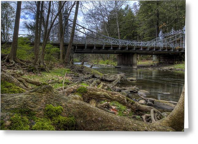 Majestic Bridge In The Woods Greeting Card