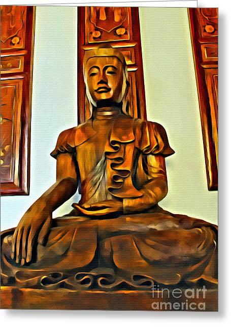 Majestic Buddha Greeting Card