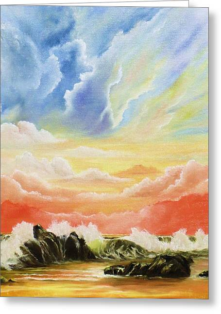 Majestic Clouds Greeting Card by Janet Hufnagle