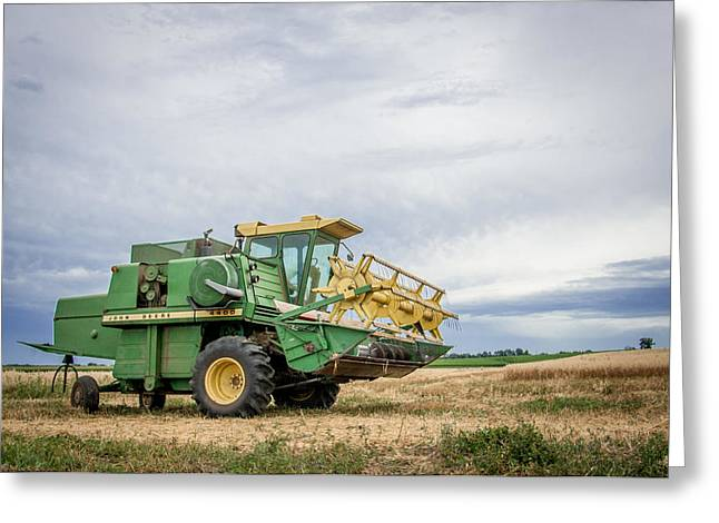 Greeting Card featuring the photograph Majestic Combine by Dawn Romine