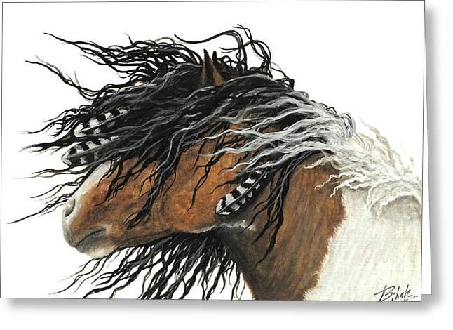Majestic Curly Horse Greeting Card by AmyLyn Bihrle