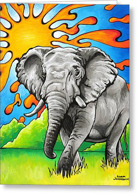 Majestic Elephant Greeting Card