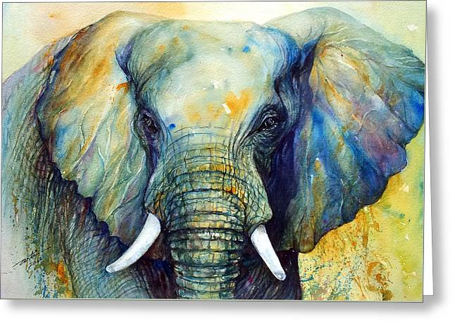 Majestic-iii Dappled Greeting Card