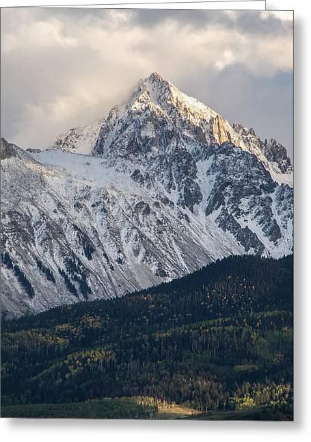 Majestic Light - Mt. Sneffels  Greeting Card by Aaron Spong