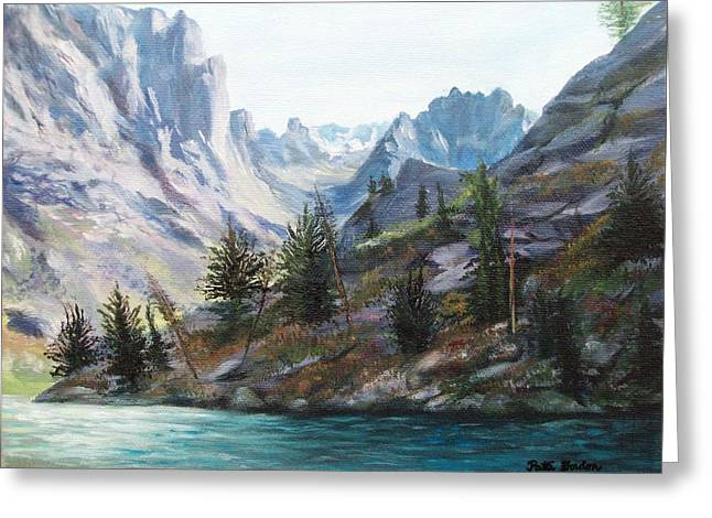 Majestic Montana Greeting Card by Patti Gordon