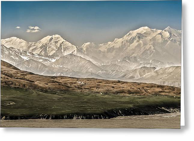 Majestic Mount Mckinley Greeting Card by Penny Lisowski