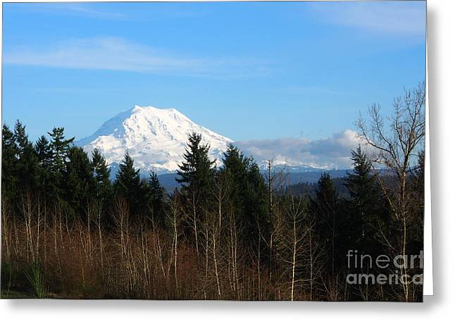 Majestic Mount Rainier Greeting Card