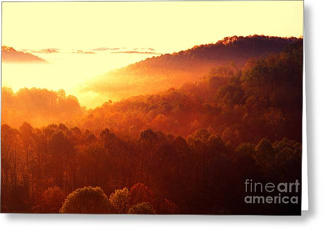 Majestic Mountain Sunrise Greeting Card by Thomas R Fletcher