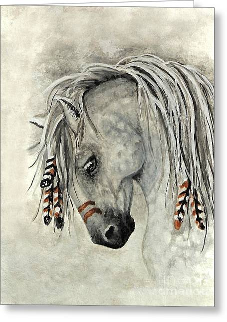 Majestic Mustang 30 Greeting Card by AmyLyn Bihrle