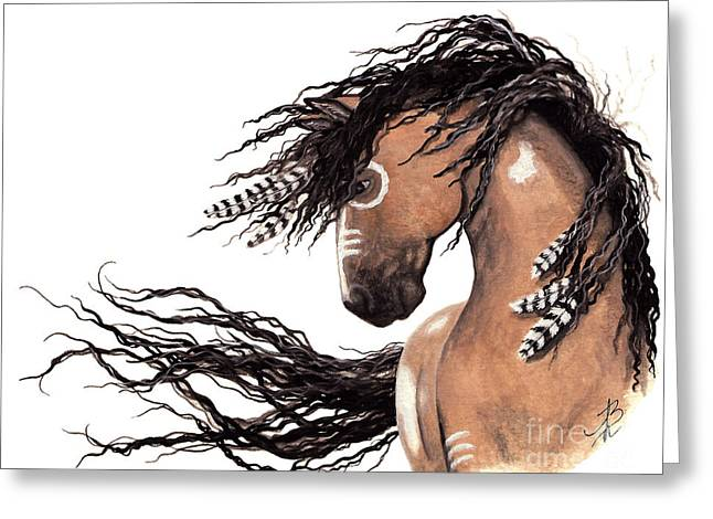 Majestic Paint Horse 43 Greeting Card by AmyLyn Bihrle