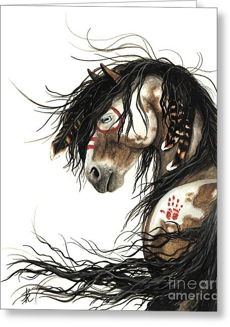 Majestic Mustang Horse Greeting Card