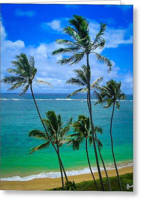 Majestic Palm Trees Greeting Card