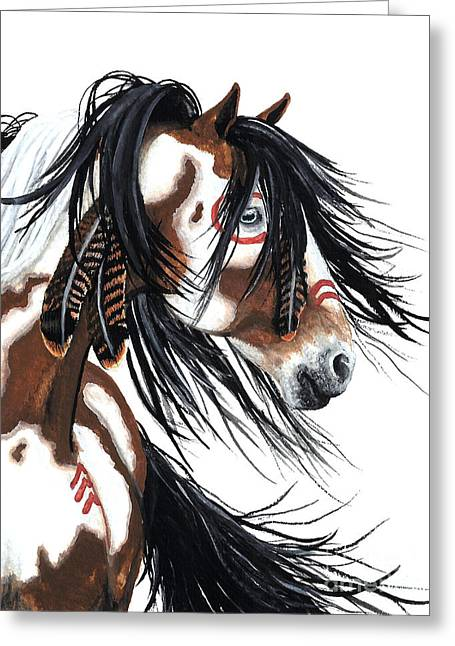 Majestic Pinto Horse Greeting Card