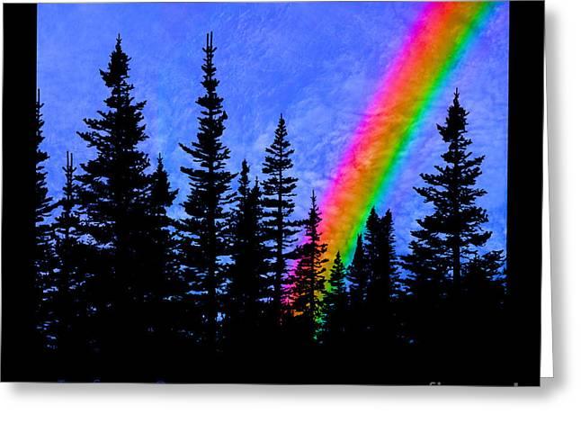 Majestic Rainbow Greeting Card by John Stephens