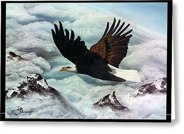 Greeting Card featuring the painting Majestic Splendor by Dianna Lewis
