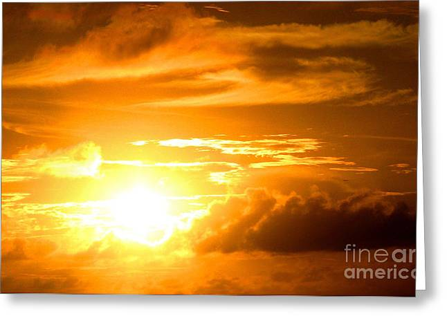Majestic Sunset Greeting Card by Kristine Merc