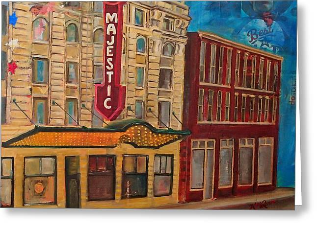 Majestic Theater Greeting Card by Katrina Rasmussen