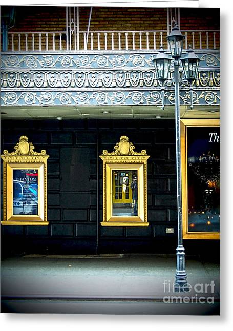 Majestic Theatre Lightpost Greeting Card