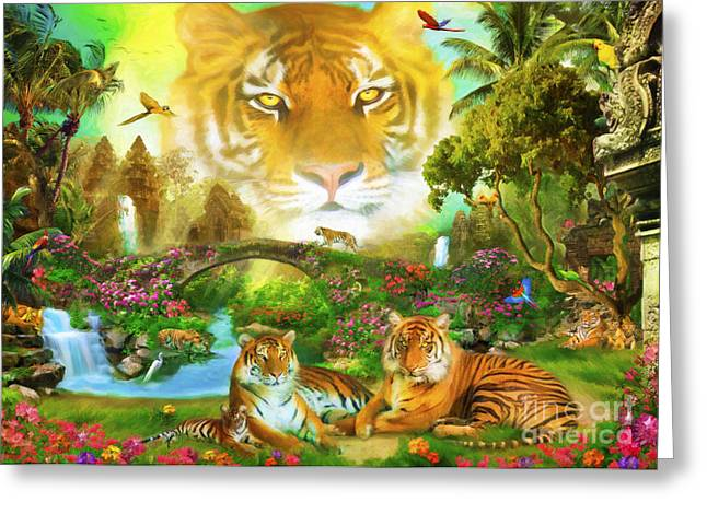 Majestic Tiger Grotto Greeting Card