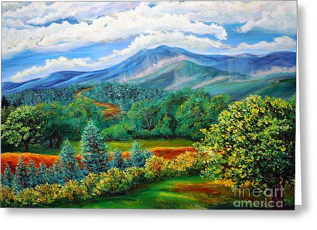 Majestic View Of The Blue Ridge Greeting Card