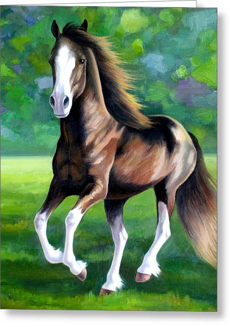 Majestic Greeting Card by Vivien Rhyan